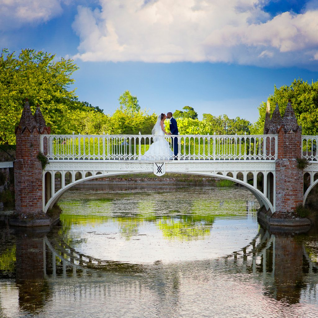 Wedding photography at Helmingham Hall in suffolk.