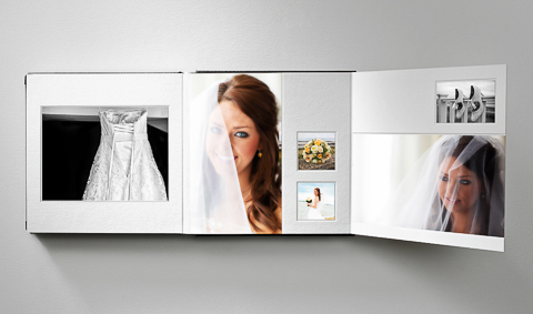"Queensberry wedding album showing a ""fold out"" page"